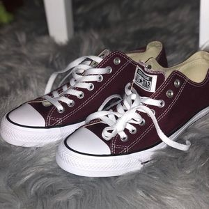 Brand new Dark red Converse
